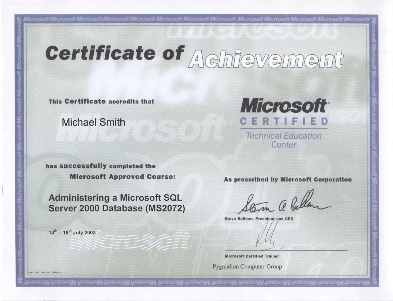 index of   certificate hamid